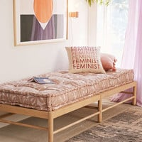 Indra Wooden Platform Daybed | Urban Outfitters