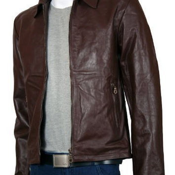 Men's leather jacket, men brown leather jacket, real leather jacket for men