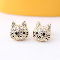 hello kitty stud earring by bythecoco on Etsy
