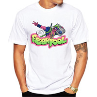 Freshpool The Fresh Prince of Bel-Air & Deadpool Men's Short Sleeve Casual White T-Shirt
