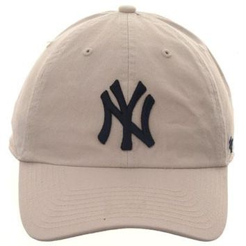 47 Brand Cleanup New York Yankees Dad Hat - Stone