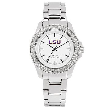 LSU Tigers Ladies Glitz Sport Bracelet Watch by Jack Mason
