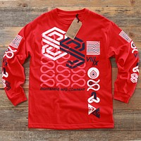 Wavy Tee Red L/S