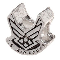 European Charm Metal Bead Us Air Force