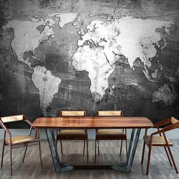 Custom Mural Wallpaper Retro Nostalgia World Map Wall Paper Roll Office Living Room Sofa Backdrop Wallpaper Papel De Parede 3D