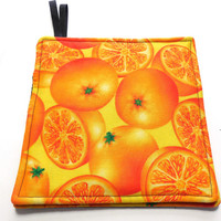 Oranges Sliced and Whole Hot Pads Pot Holders Trivets Set of Two