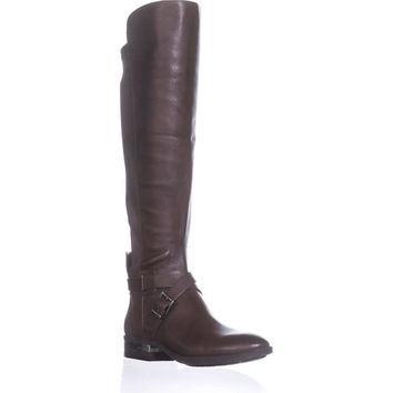 Vince Camuto Paton Wide Calf Fashion Boots, Sherwood Bark, 7.5 US, Sherwood Bark, 7 US / 37 EU