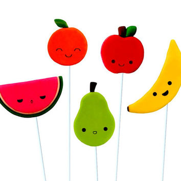Kawaii Fruit Marzipop™ Artisan Marzipan Lollipops: an adorable sweet treat!