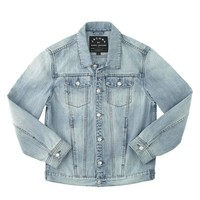 DENIM JACKET - DISTRESSED BLEACHED