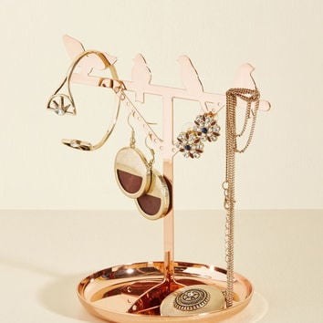 Flaunt, Perch, Repeat Jewelry Stand in Copper