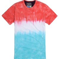 Modern Amusement Dipped T-Shirt - Mens Tee - Blue -