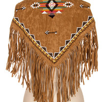 Aztec Beaded and Embroidered Scarf