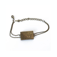 Brass Love Bracelet