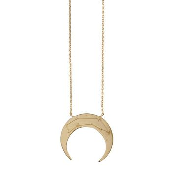 Zodiac Crescent Necklace