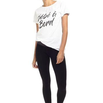 """""""Bebe a Bord"""" French Graphic Tee"""