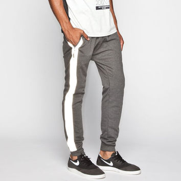 Uncle Ralph Reflective Stripe Mens Jogger Pants Grey  In Sizes