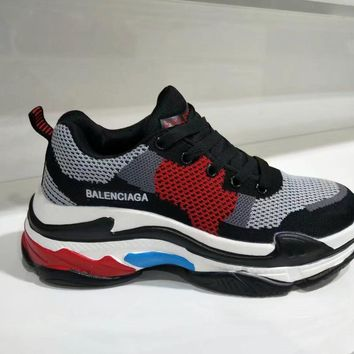 """Balenciaga"" Women Sport Casual Fashion Multicolor Breathable Thick Bottom Sneakers Re"
