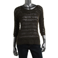 INC Womens Loose Knit Dolman Sleeves Pullover Sweater