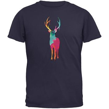 Splatter Deer Navy Youth T-Shirt