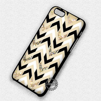 Chevron Sparkly Gold - iPhone 7 6 Plus 5c 5s SE Cases & Covers