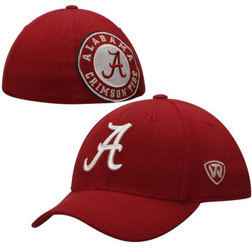 Alabama Crimson Tide Top of the World Rookie B.A.F. 1-Fit Flex Performance Hat – Crimson