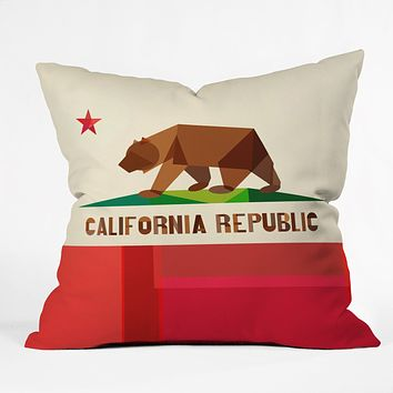 Fimbis California Outdoor Throw Pillow