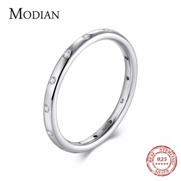 Classy and Simple iAuthentic 925 Sterling Silver Stackable Ring