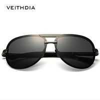 VEITHDIA Aluminum Magnesium Men's Sunglasses Polarized Lens Driver Sun Glasses Male Classic Eyewears Accessories For Men 6500