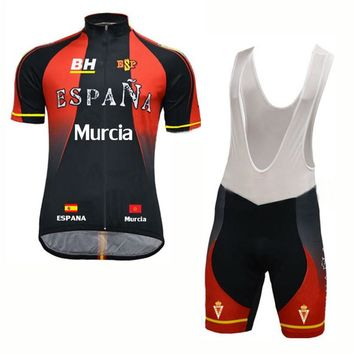 Men Classica spain cycling jersey Set MTB bike wear bib shorts gel pad ESPANA pro team bicycle clothing ropa Ciclismo