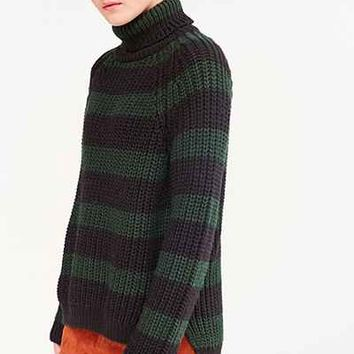 BDG Aria Striped Turtleneck Sweater - Urban Outfitters