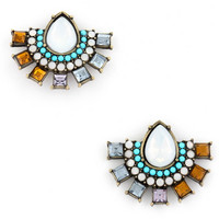 Need You So Studs in Turquoise