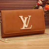 Classic LV Leather Wallet Poket Satchel Bag