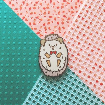 Basil Cornelius Hedgehog Hard Enamel Lapel Pin