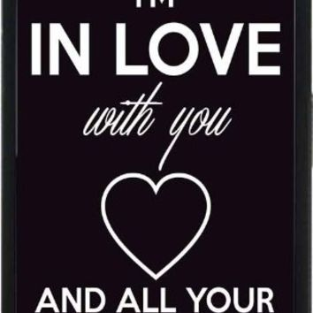 I'm In Love With You And All Your Little Things - Phone Case Back Cover (iPhone 6 (4.7 inches screen) Plastic Clear Sides) comes with Security Tag and MyPhone Designs(TM) Cleaning Cloth