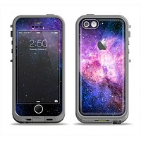 The Vibrant Purple and Blue Nebula Apple iPhone 5c LifeProof Fre Case Skin Set