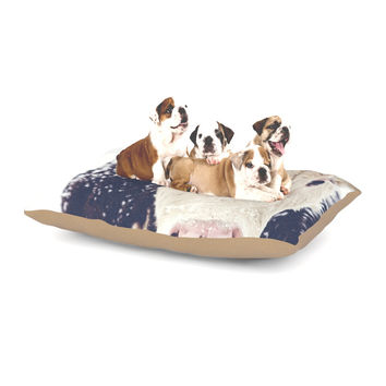 "Debbra Obertanec ""Snowy Cow"" Black White Dog Bed"
