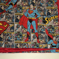 SUPERMAN BABY Blanket, Superhero Baby Blanket, Minky And Cotton, Stroller Blanket,
