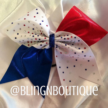 DaBling in Americana - Red White and Blue Cheer Bow