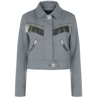 Alexander Wang Metal Fringe Cropped Jacket | Harrods.com
