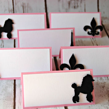 Paris Themed Party Name Tags (set of 6)