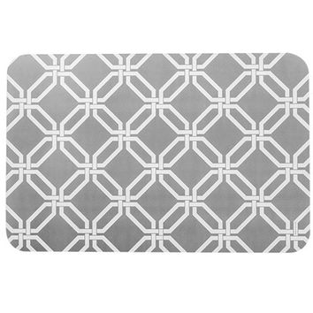 Bulk Gray Lattice-Pattern Vinyl Placemats at DollarTree.com