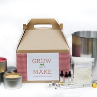 Complete DIY Holiday Candle Making Kit - Makes 68 candles (tins, tealights, votives)