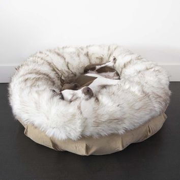 Faux Fur Shag Puff™ Luxury Dog Bed