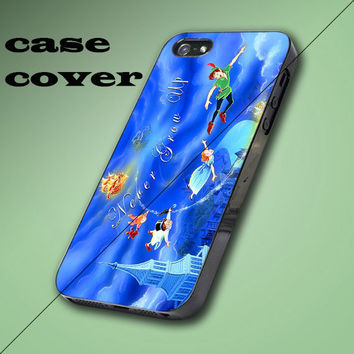Beautiful Blue Disney Peter Pan Quote Design iPhone 4/4S, 5/5S/5C Case, Samsung Galaxy S3/S4 Case
