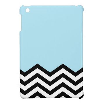 Blue Chevron Piece Case For The iPad Mini from Zazzle.com