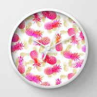 Pineapple Party Wall Clock by Noonday Design