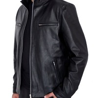 Outfitmakers Fast and Furious 7 Vin Diesel Leather Jacket Black
