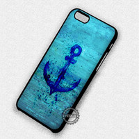 Blue Sea abstract Anchor Watercolor - iPhone 7 6 5 SE Cases & Covers