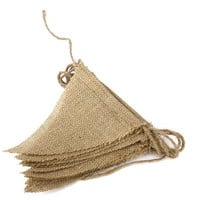 Hot 2.8M Rustic Jute Hessian Burlap Lace Bunting Shabby Chic Wedding Banner [7982978695]