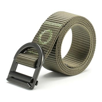 Men Nylon Alloy Buckle Belt Military Tactical Durable Strip High Quality Belts